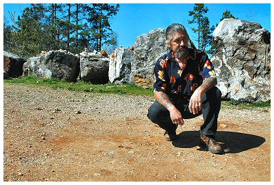 This is the man that ran the crystal mine we played around in on our vacation to Hot Springs, Ar...