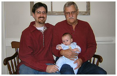 3 generations of Blake men with cleft chins.