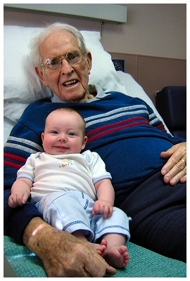 The father of my father with my son.  There are far too few photos like this one....