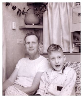 A polaroid of my father and grandfather many moons ago.